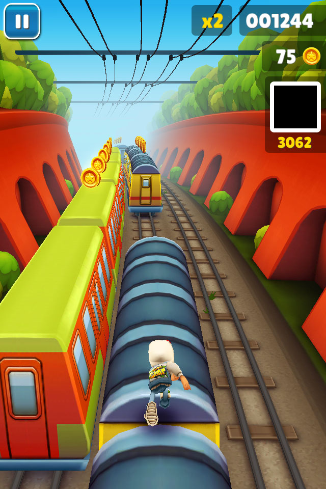 Screenshot af Subway Surfers på iPhone