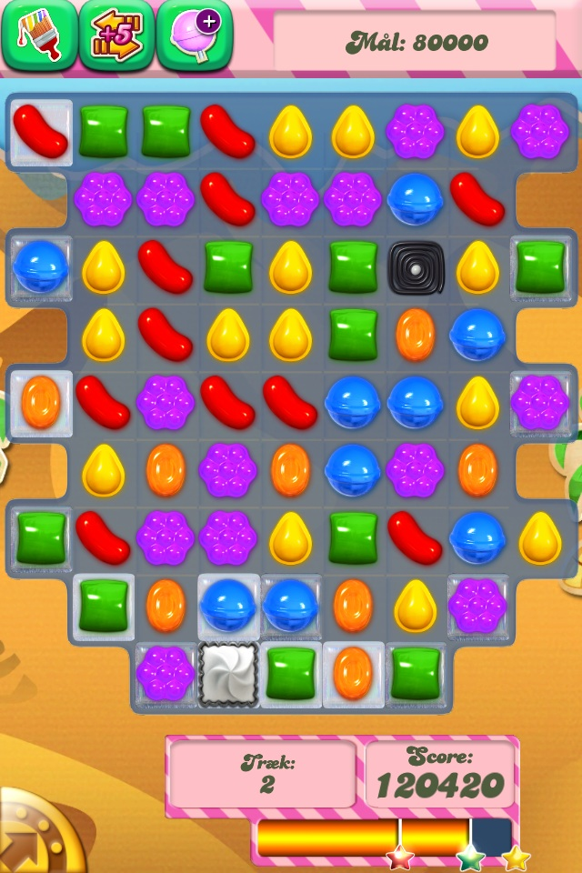 Screenshot af Candy Crush på iPhone4