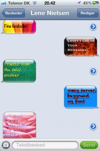 Screenshot af Color Your Messages